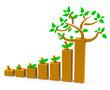 canvas print picture - Das Baumwachstum