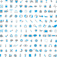 Blau-grau Web Icons, blue-gray web icons