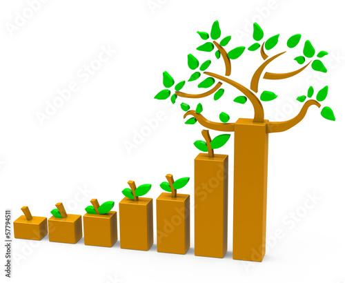 canvas print picture Das Baumwachstum