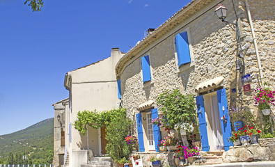 French village, houses in Provence. France.