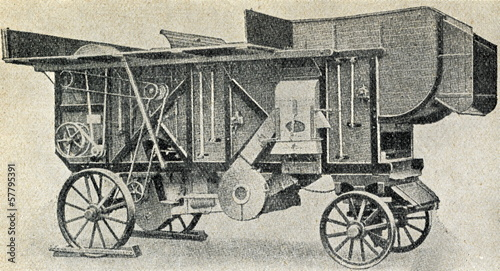 Threshing machine ca. 1930