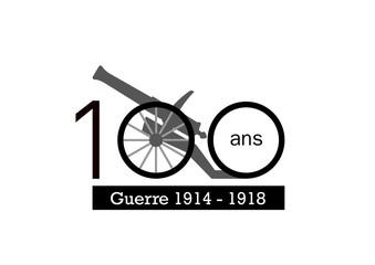 Logo 100 ans - canon - guerre de 1914 - 1918
