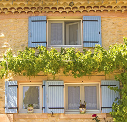 Provence, house in french village. France.