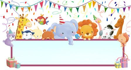 felicitación de animales