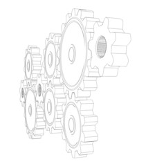 Wire frame gears