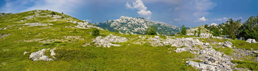 Velebit mountain national park panorama