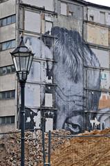 berlino, vecchie costruzioni in demolizione
