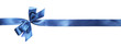 Leinwanddruck Bild - Color gift satin ribbon bow, isolated on white