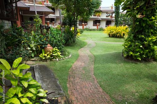 Fotobehang Tuin Garden stone path