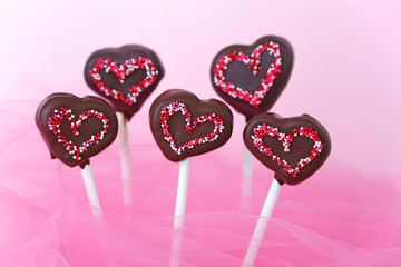 Heart shaped cakepops