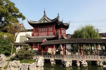 Traditional chinese Yuyuan Garden, Shanghai China