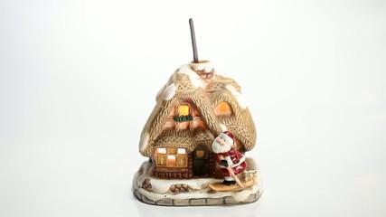 Santa Claus Christmas house isolated