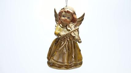 Christmas angel isolated on white background