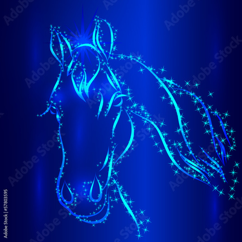 Horse Sketch Vector Greeting Card