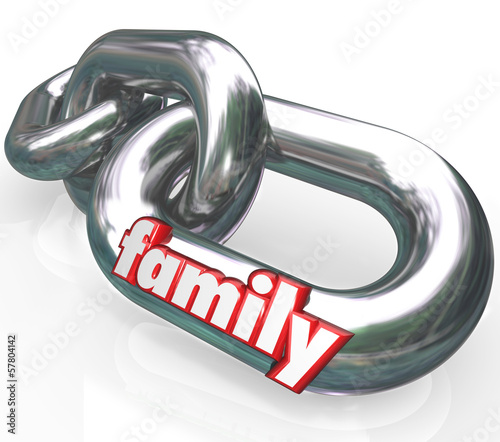 Family Chain Links Relationships Families Parenthood
