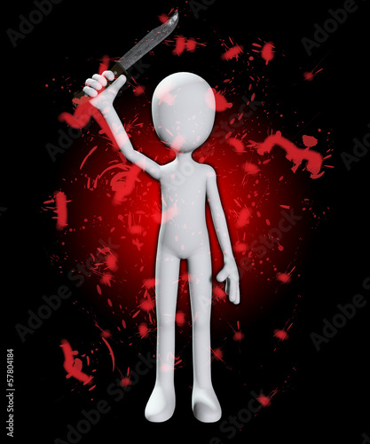 Bloody Psycho With Knife