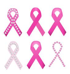 Set of Breast cancer award ribbons