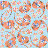 Paisley seamless pattern in vintage colors and seamless pattern