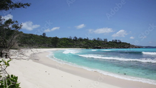 beach at Seychelles islands. La Digue, Anse Cocos
