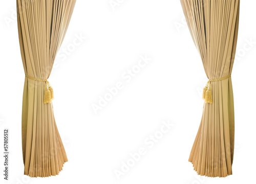 Gold luxury curtains