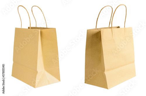 Two Brown paper bag