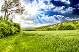 Wonderful spring colors of Tuscany - Meadows and Hills
