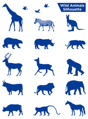 Wild Animals Silhouette