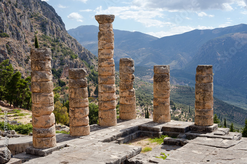 Temple of Apollo, ancient archaeological site of Delphi