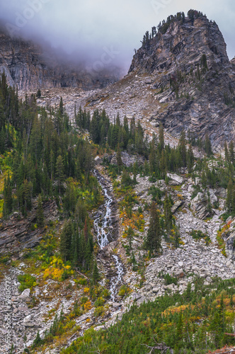 Glacier Waterfall in Paintbrush Canyon