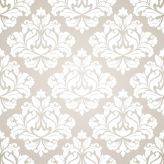 Damask seamless pattern for design.