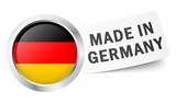 "Button mit Fahne "" MADE IN GERMANY """