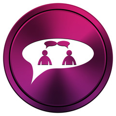 chat icon - men in bubble