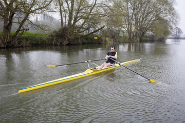 Single Scull on Avon River