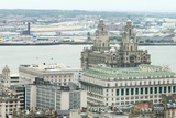 Birdseye view of Liverpool, UK