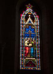 Lot église Montcuq vitrail