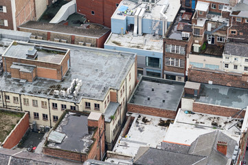 Roofs in central Liverpool, UK