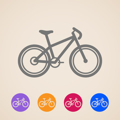 vector bike icons