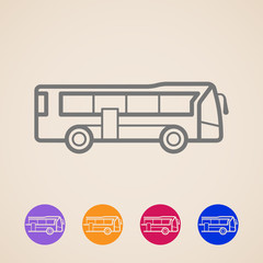 vector bus icons