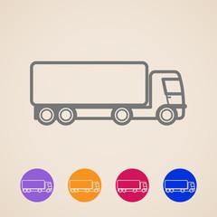 vector cargo truck icons