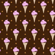 vintage seamless background with ice cream