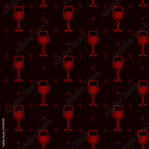 seamless background with wineglasses