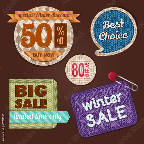 Winter sale. Fabric and knit