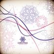 Colorful vintage snowflake swirls / Christmas card