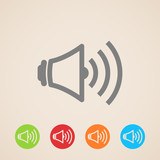 vector speaker volume icons