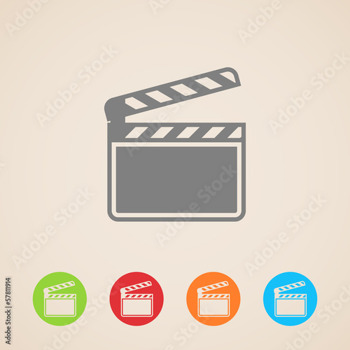 film clap board cinema vector icons