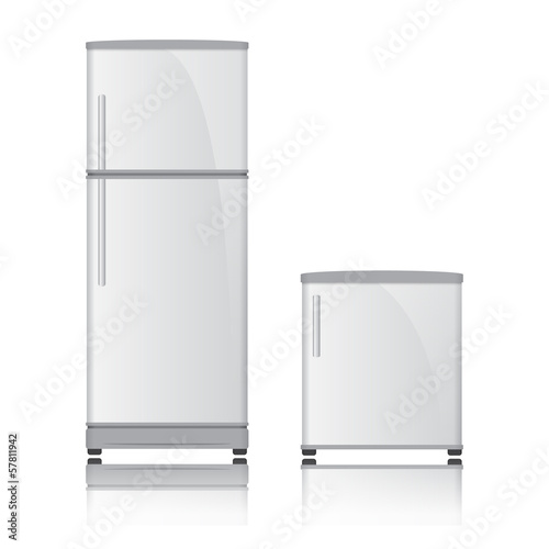 3D Refrigerator vector on isolated white background
