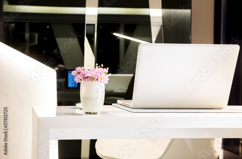 Table with laptop