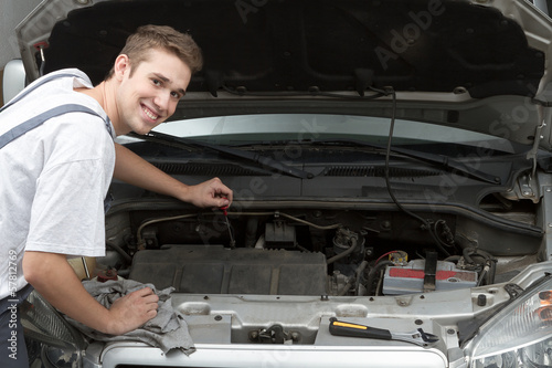Happy mechanic