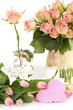 Blumen als Tischschmuck