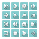 vector flat arrows icons collection